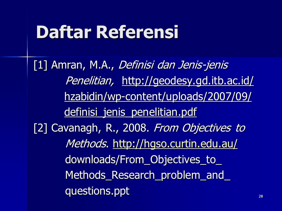 Daftar Referensi [1] Amran, M.A., Definisi dan Jenis-jenis